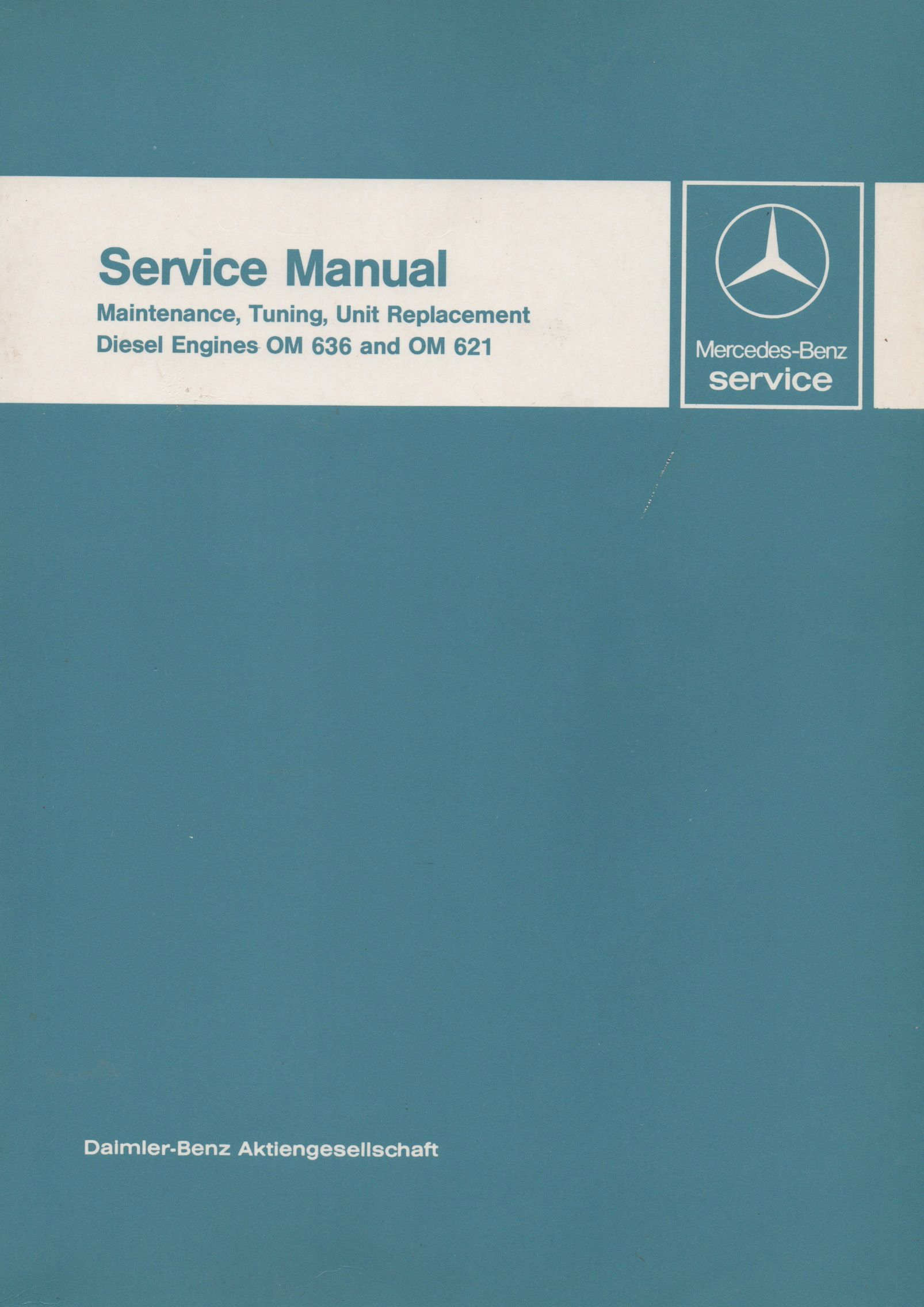 mercedes-benz diesel engines om 636 and om 621 service manual