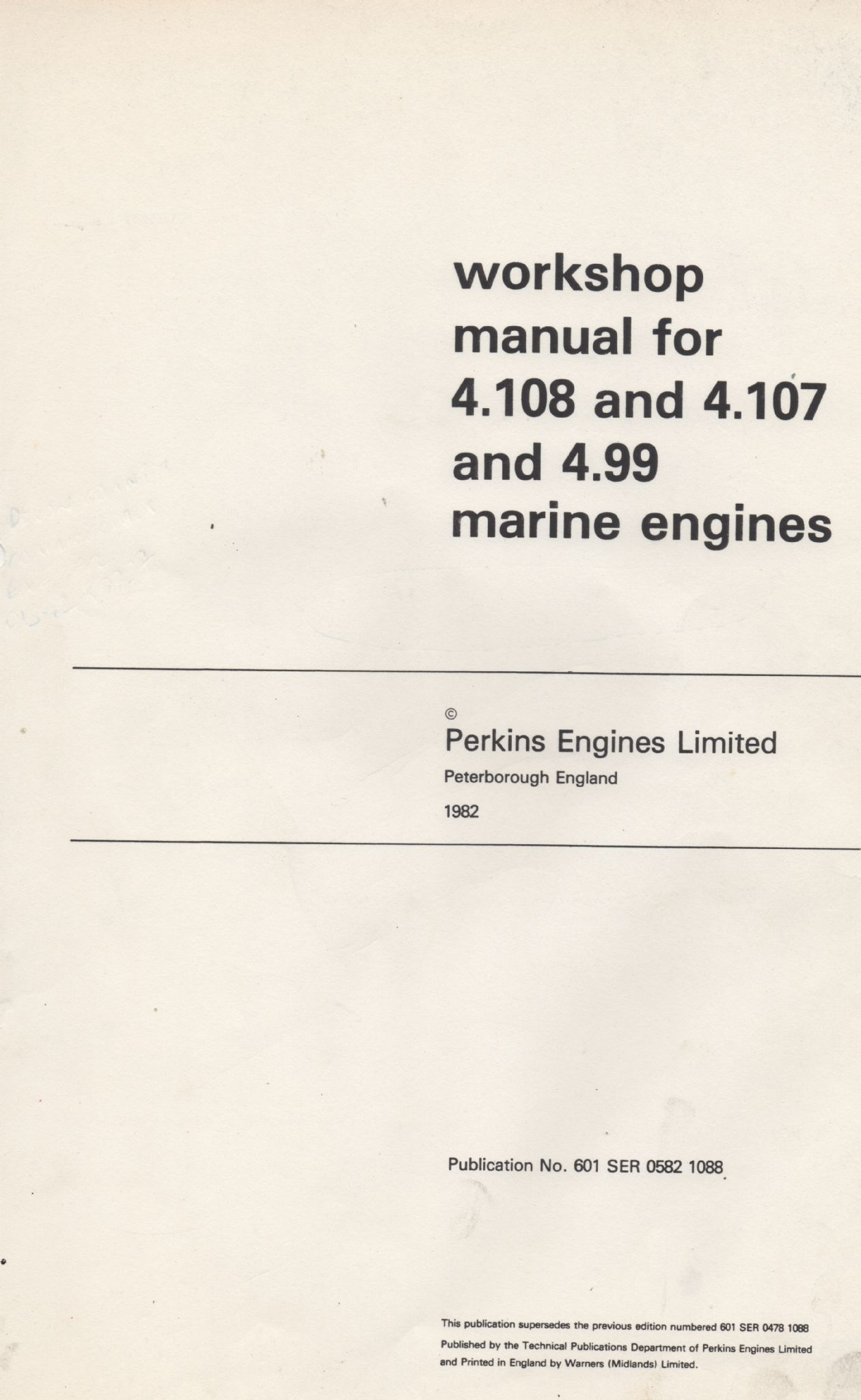 ... Array - perkins workshop manual 4 108 and 4 107 and 4 99 marine engines  rh ...