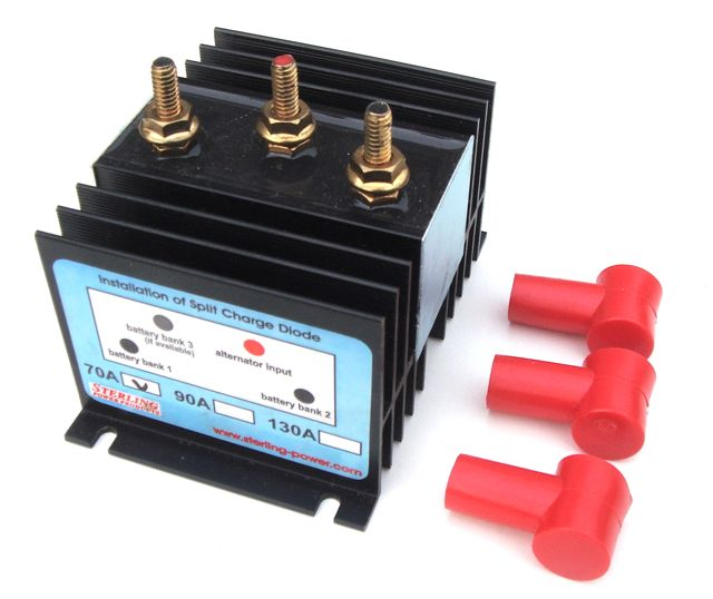 sterling split charge diode 70a voltage sensing relay split charge circuits marcleleisure co uk